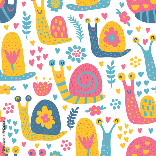 snails pattern Canvas-taulu