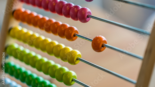 Photo Close Up Of Colorful Abacus