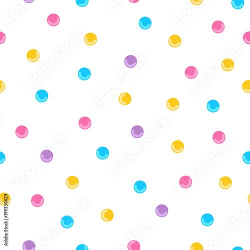 fototapeta na ścianę Seamless pattern background with white donut glaze