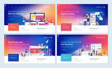 Set Of Website Template Design...