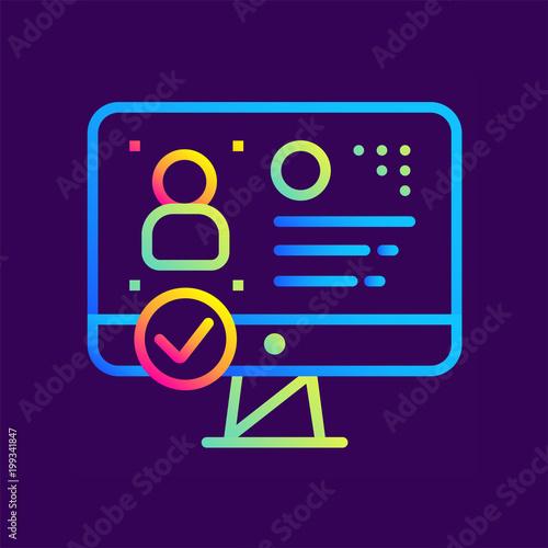 Fotografia, Obraz  Outline gradient icon Identity verification