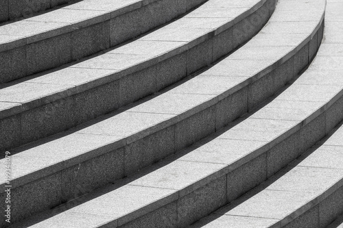 Foto op Plexiglas Trappen Background photo, dark gray round stairs