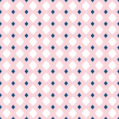 Vector seamless pattern for girls and boys. Rose pink, navy blue, white colors