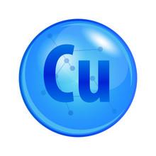 Mineral Copper Or Cuprum Capsu...
