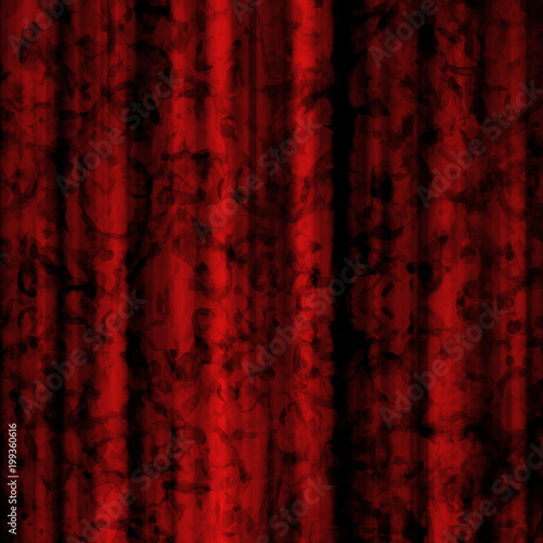 Fotobehang Stof Red Curtain Background Design with Elegant Pattern and Soft Ripples - High resolution illustration, suitable for graphic element or backdrop use.
