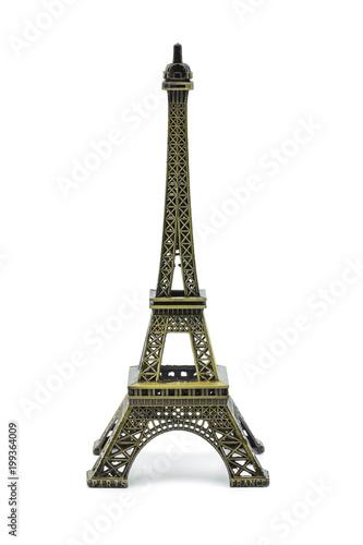 Deurstickers Eiffeltoren Statue of eiffel tower isolated on white background