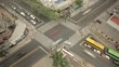 Time lapse - Zenith view of crossroads in Florianópolis city uptown. Florianópolis, Santa Catarina / Brazil