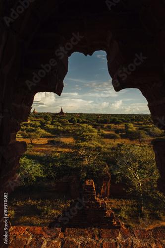 Keuken foto achterwand Zwart Scenic view of landscape against sky