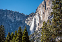 Bridal Veil Falls At Yosemite Park