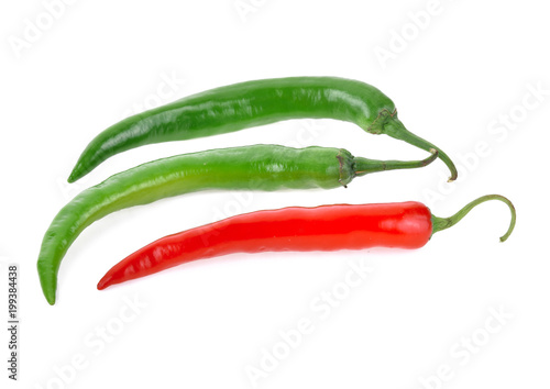 Staande foto Hot chili peppers Hot chili peppers isolated on white background