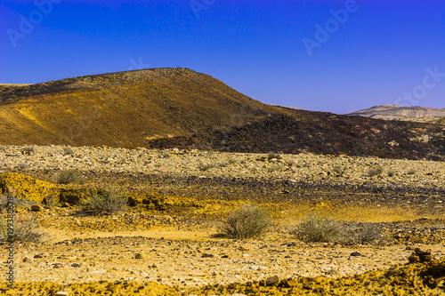 In de dag Donkerblauw Breathtaking landscape of the desert