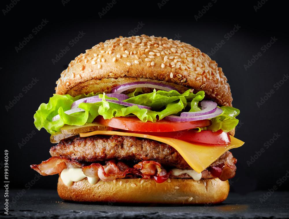 Fototapety, obrazy: fresh tasty burger