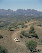 Flinders Ranges, South Australia, A  Road Through Bunyeroo Valley Near Wilpina Pound.