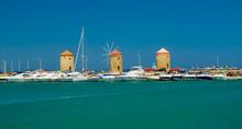 Rhodes Island Harbor In Summer...