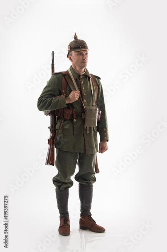 Valokuva Actor in the form of a German infantryman from the times of the First World War