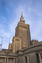 The Palace Of Culture And Science, One Of The Symbols Of Warsaw, Poland