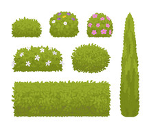 Green Bushes Set