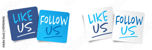 Obraz Like us and follow us - fototapety do salonu