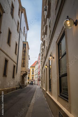 Photo  Die bekannte Schönlaterngasse in Wien, Österreich