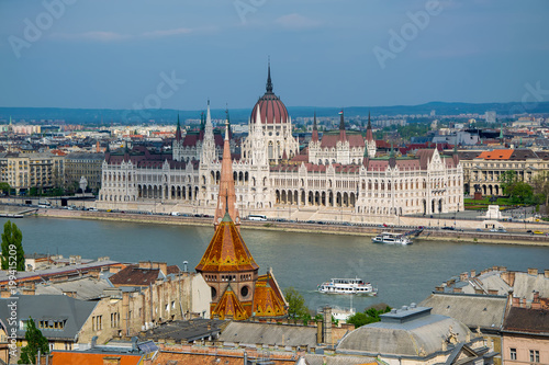 In de dag Boedapest Panoramic view of Budapest city at daylight, Hungary