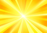 A bright yellow sun burst radiant background. Vector illustration