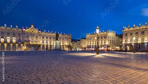 Fotografie, Obraz  Place Stanislas Nancy Frankreich bei Nacht