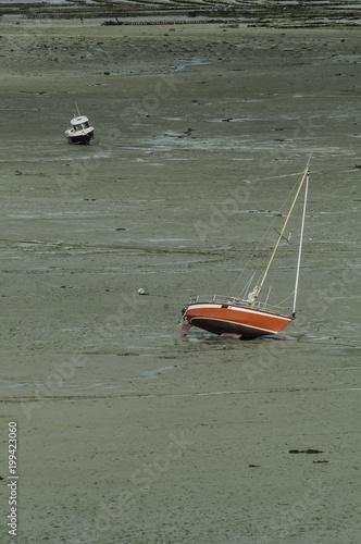 Keuken foto achterwand Khaki Esperando la llegada de la marea