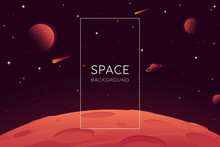 Red Planet Landscape Vector Il...