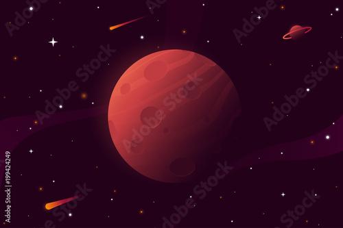 duza-czerwona-planeta-z-kraterami-ilustracja-wektorowa-marsa-tlo-z-gwiazdami