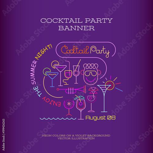 Staande foto Abstractie Art Cocktail Party banner design