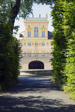 Alley In Park And Wilanow Palace, Poland