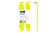 Job Fair Poster Template With ...