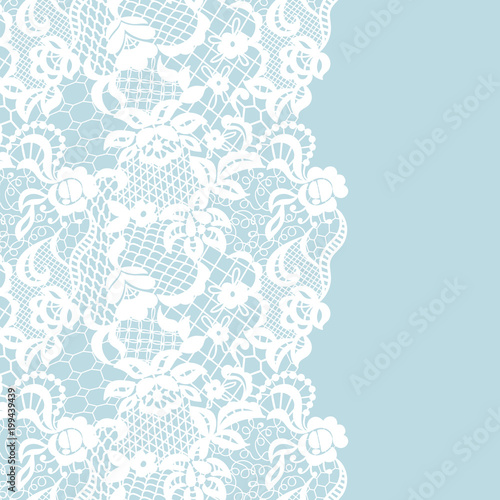 Leinwand Poster Seamless lace border. Invitation card.