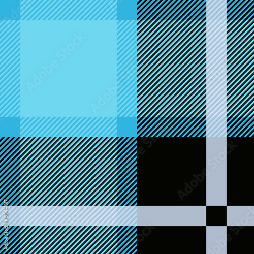 Photo  Blue Tartan, plaid seamless pattern. Textured plaid