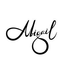 Personal Name Abigail. Vector Handwritten Calligraphy Set.