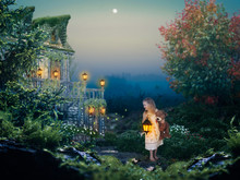 Little Girl At Night. A Fabulo...