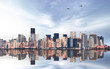 Manhattan Cityscape with Reflection in Water