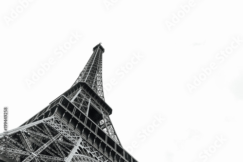 Photo sur Aluminium Tour Eiffel Eiffel tower in Paris, France