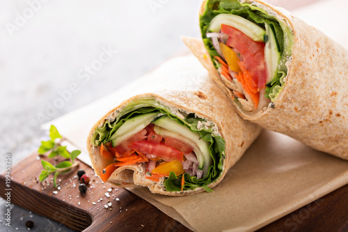 Vegan vegetable wrap
