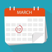 Calendar Icon. The 17th March....