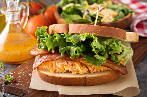 Fotografie, Obraz  Pimento cheese sandwich with bacon