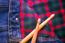 Drum Sticks Lie On A Scottish ...
