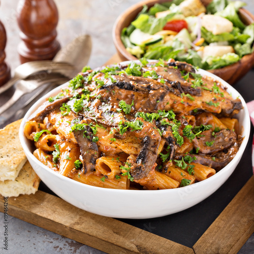 Fotografie, Obraz  Vodka chicken pasta with marinara sauce