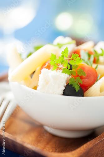 Nudelsalat mit feta
