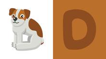 D Is For Dog. Letter C. Dog, C...