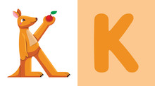 K Is For Kangaroo. Letter K. K...