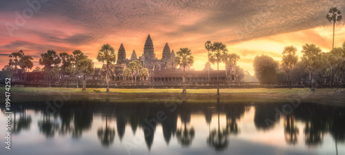 Foto  Temple complex Angkor Wat Siem Reap, Cambodia