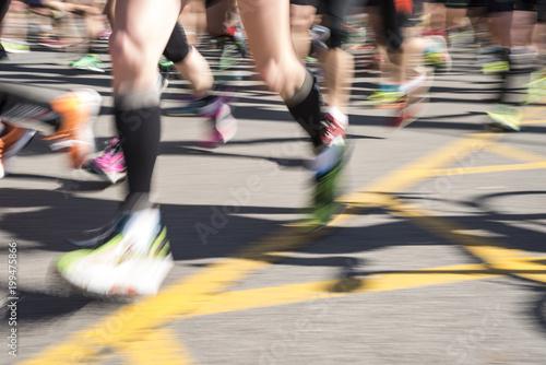 Maraton Barcelona Canvas Print