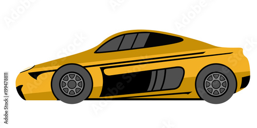 Fotobehang Snelle auto s Isolated racing car icon
