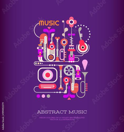 Cadres-photo bureau Art abstrait Abstract Music Art